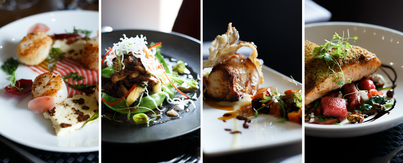 A picture of different dishes at Pavilion on Northbourne in Dickson