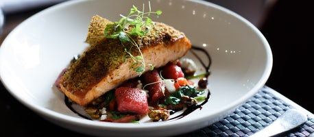 A picture of a dinner dish created at the Pavilion on Northbourne in Canberra