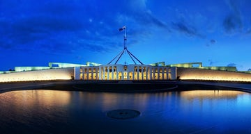 An image of Parliament house located near Aria Hotel in Dickson