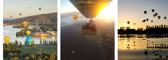 Experience the sunrise from a hot air balloon