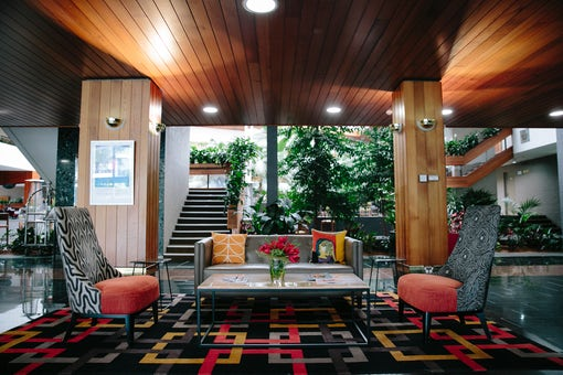 A picture of the lobby at the Pavilion on Northbourne on Northbourne Avenue