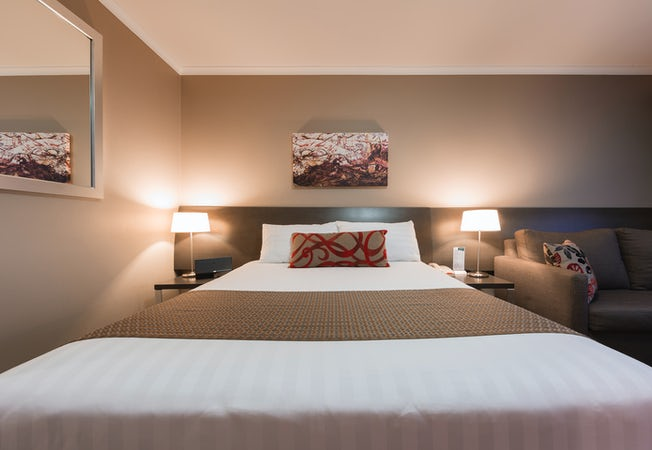 A picture of a bedroom at the Pavilion on Northbourne in Dickson