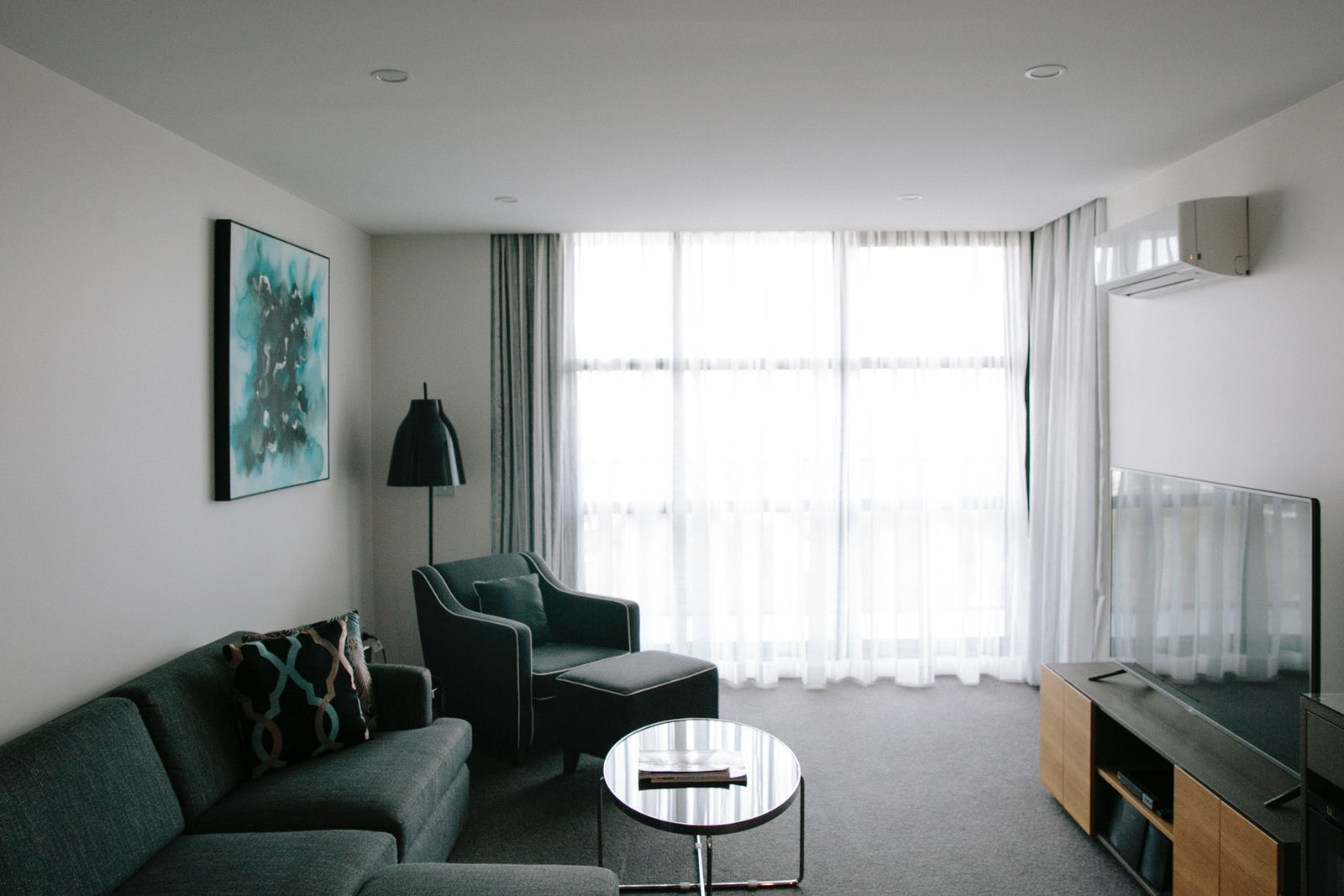 Luxury 1 bedroom aparment lounge at Avenue Hotel, Canberra