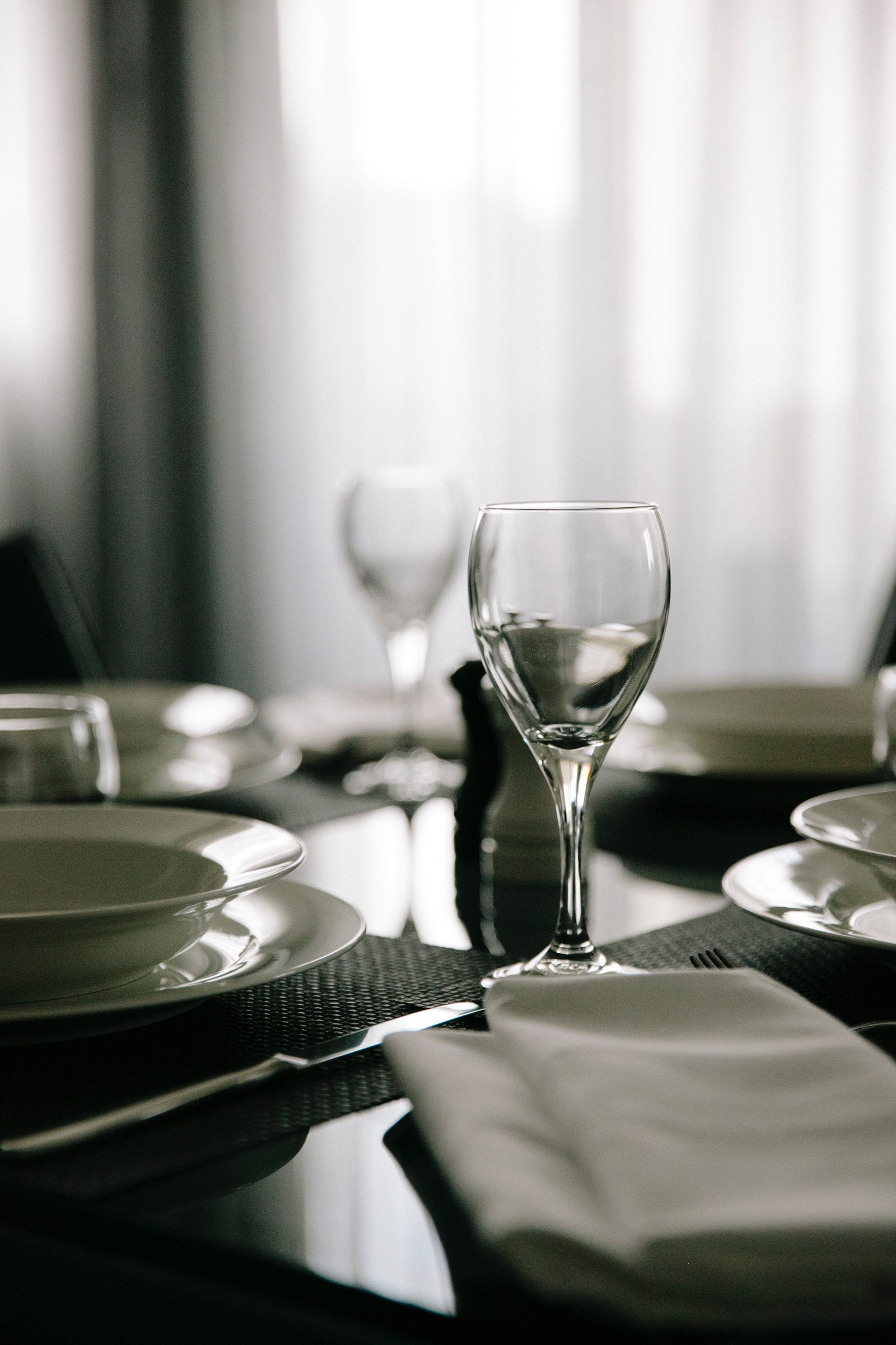 An image a table set in a Aria Hotel apartment on Dooring street