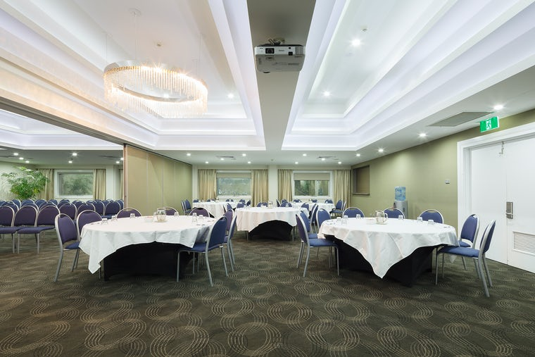 Featuring conference set up at the Pavilion Hotel