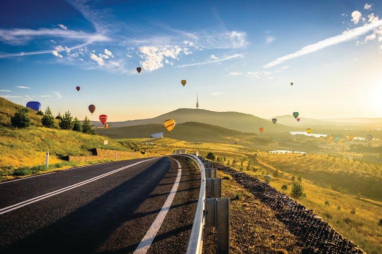 Hot Air Balloon festival at Arboretum Canberra