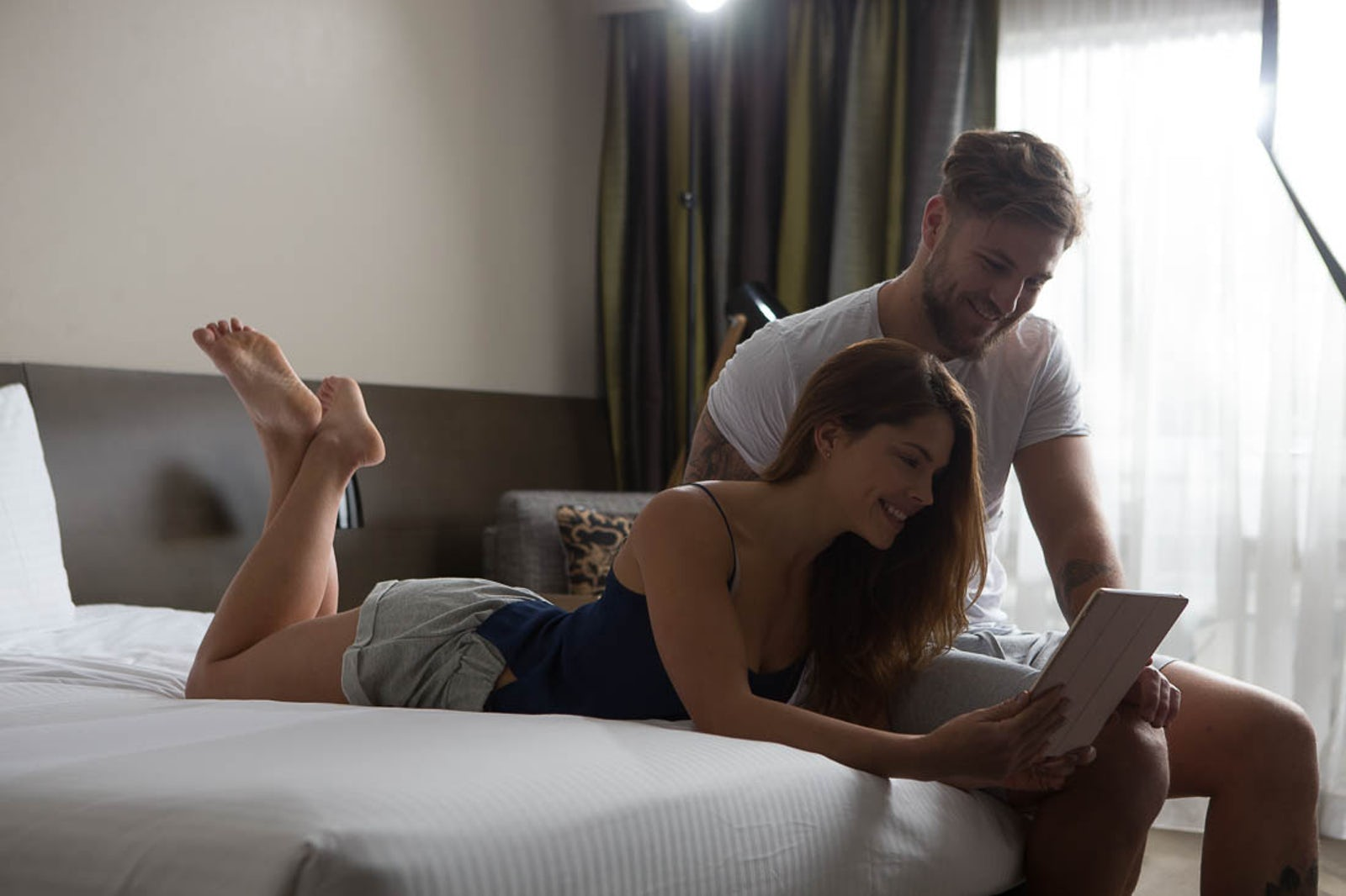 Couple at Pavilion on Northbourne in the Deluxe Room