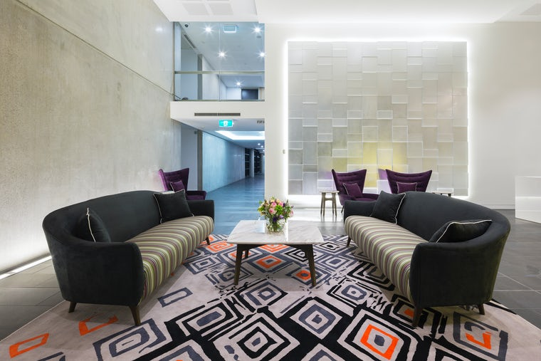A picture of the reception at the Avenue Hotel Canberra CBD
