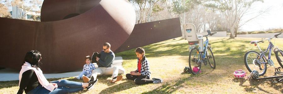 Ride or walk around the National Gallery of Australia's Sculpture Garden