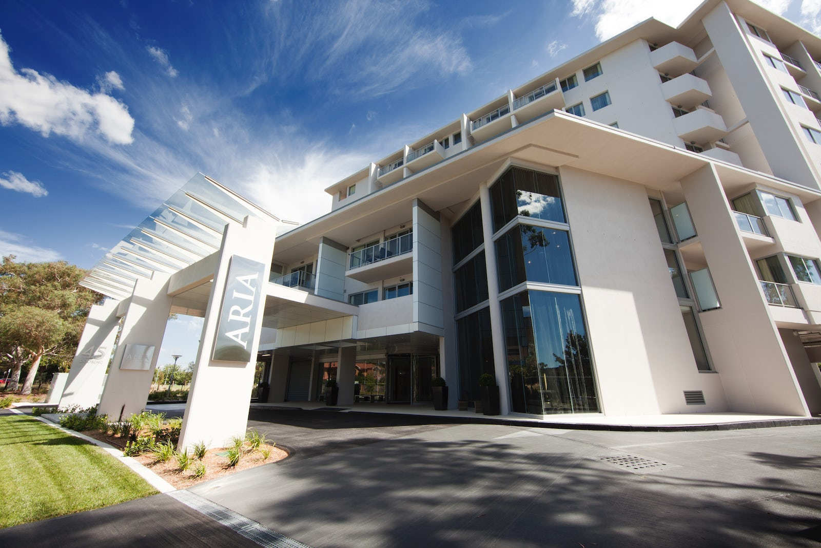 Picture of the stylish Aria Hotel in Canberra