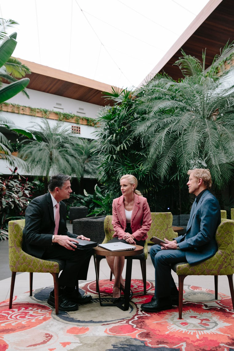 A picture of a corporate meeting at a hotel from capital hotel group in Canberra