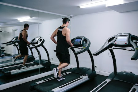 A picture of a man working out at the Avenue Hotel in Braddon